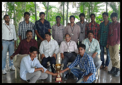 """VBIT secured first prize in Volley Ball in the Event """"Sports Bouts 2014″ held at CVSR Engineering College,held on 17th & 18th October, 2014"""