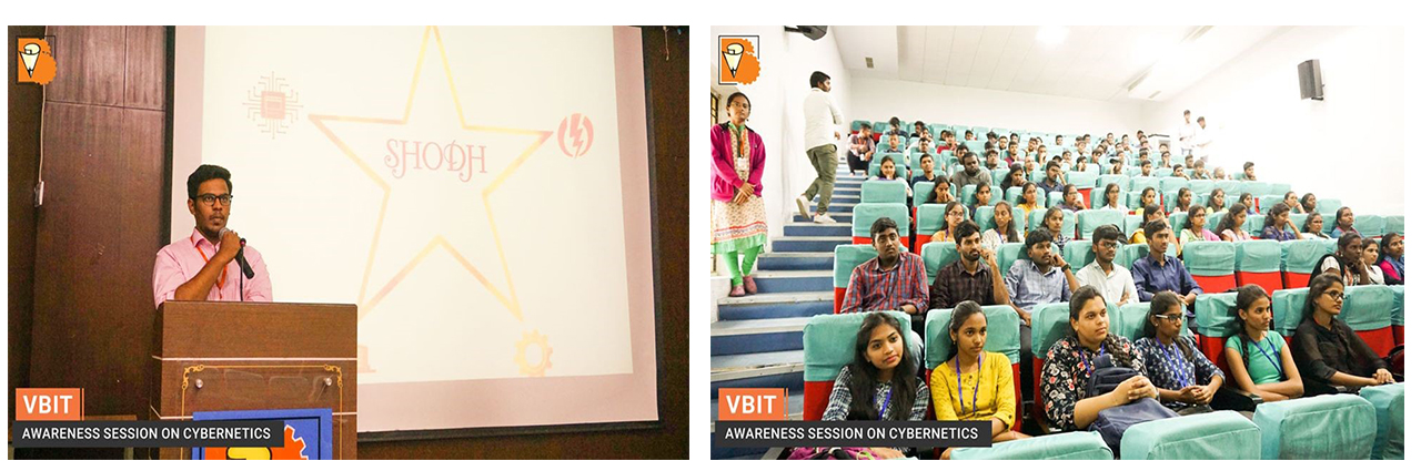 SHODH- Innovation center of the institute has conducted awareness session on Cybernetics as a part of training program