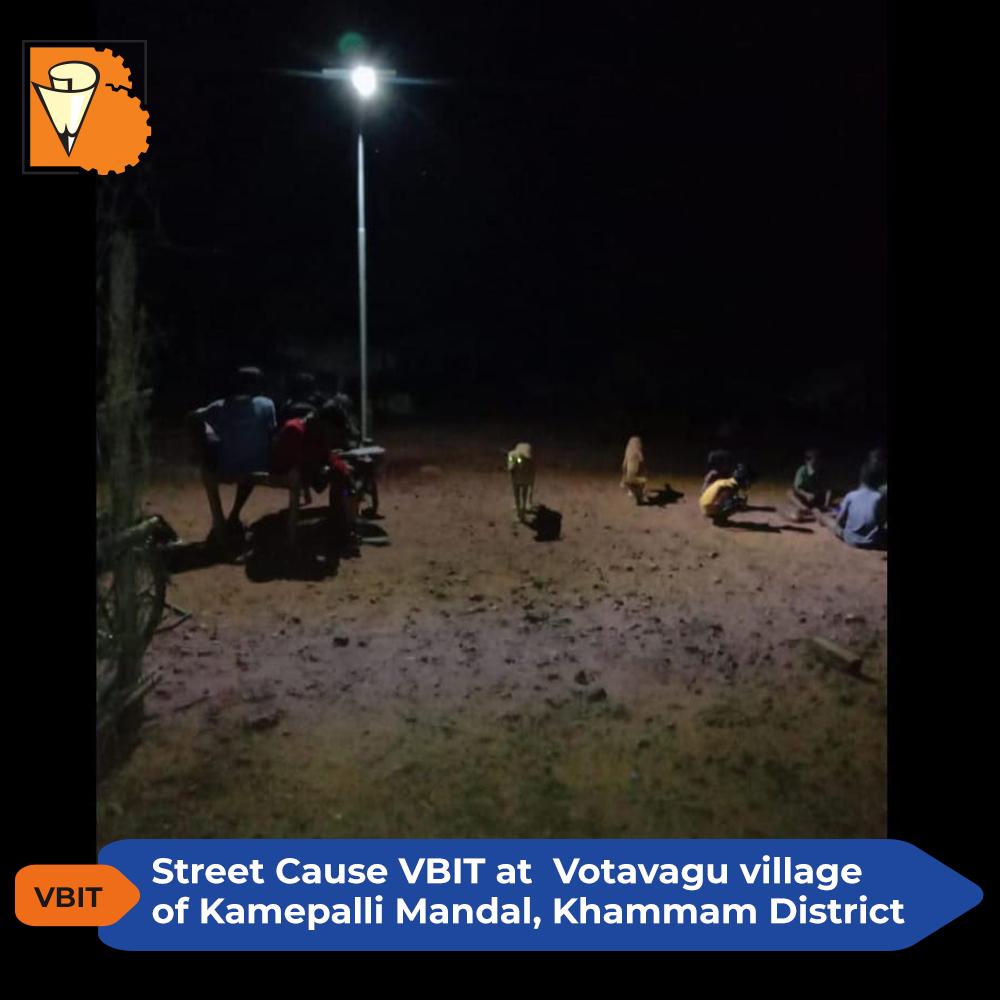 Street Cause VBIT at Votavagu village of Kamepalli mandal, Khammam district
